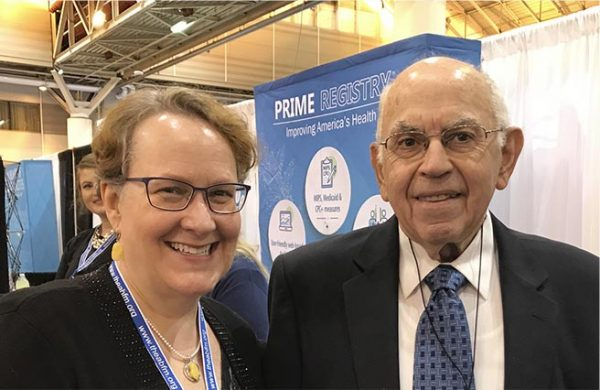 ABFM PRIME SAN Program Manager, Dr. Elizabeth Bishop with ABFM Senior Advisor to the President, Dr. Joseph W. Tollison at FMX 2018.